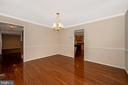 Dining room opens to the kitchen - 2505 UNDERWOOD LN, ADAMSTOWN