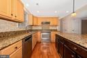 Center island in the kitchen - 2505 UNDERWOOD LN, ADAMSTOWN