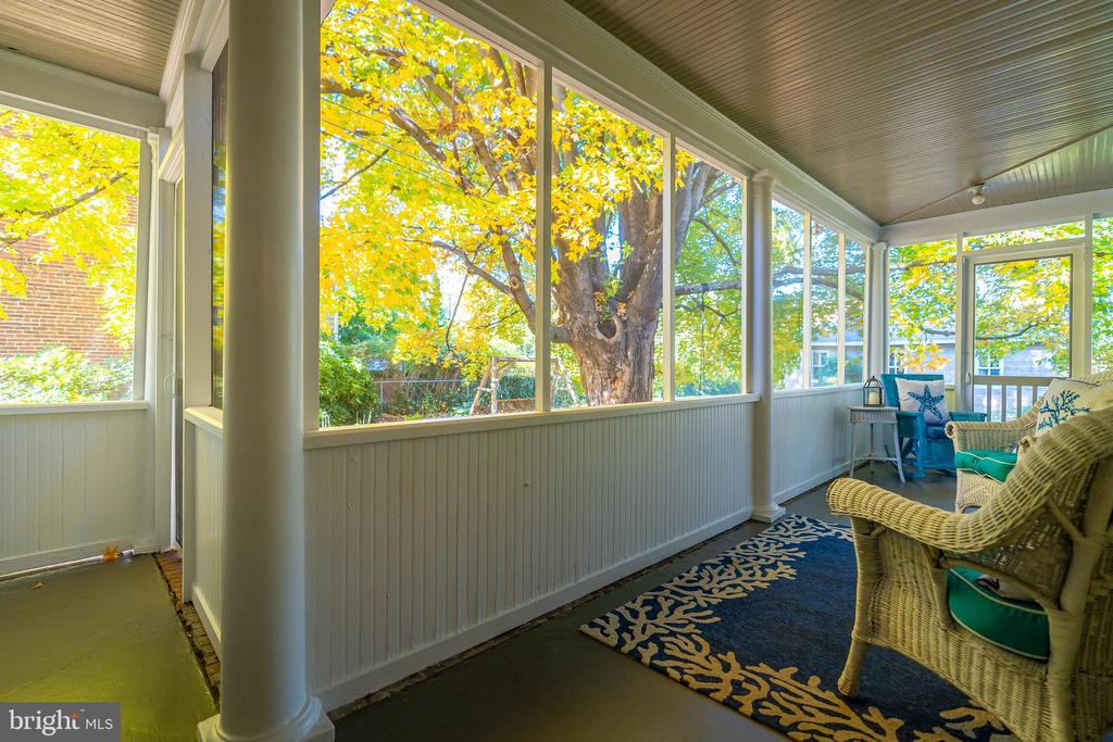 Enclosed Porch in the rear of the home. - 405 HANOVER ST, FREDERICKSBURG