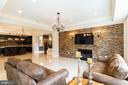 Lower Level Family Room w/Custom Built-in Bar - 11345 ALBERMYRTLE RD, POTOMAC