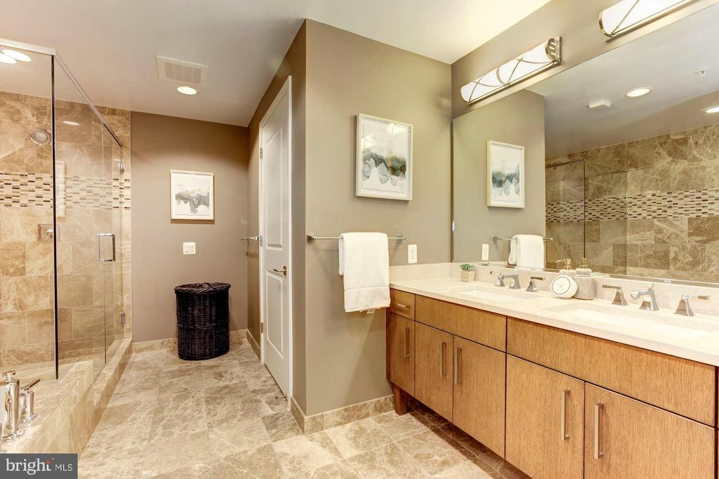 Master Bathroom  with His and Her Sink - 7171 WOODMONT AVE #301, BETHESDA
