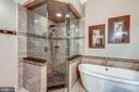 Ultra Shower w/ Frameless Enclosure & Custom Tile - 20024 VALHALLA SQ, ASHBURN