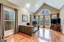 Living Room w/ Cathedral Ceiling & Views - 20024 VALHALLA SQ, ASHBURN