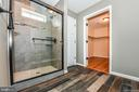 Master tiled shower.  Walk-in closet - 4802 COWMANS CT NORTH, MOUNT AIRY