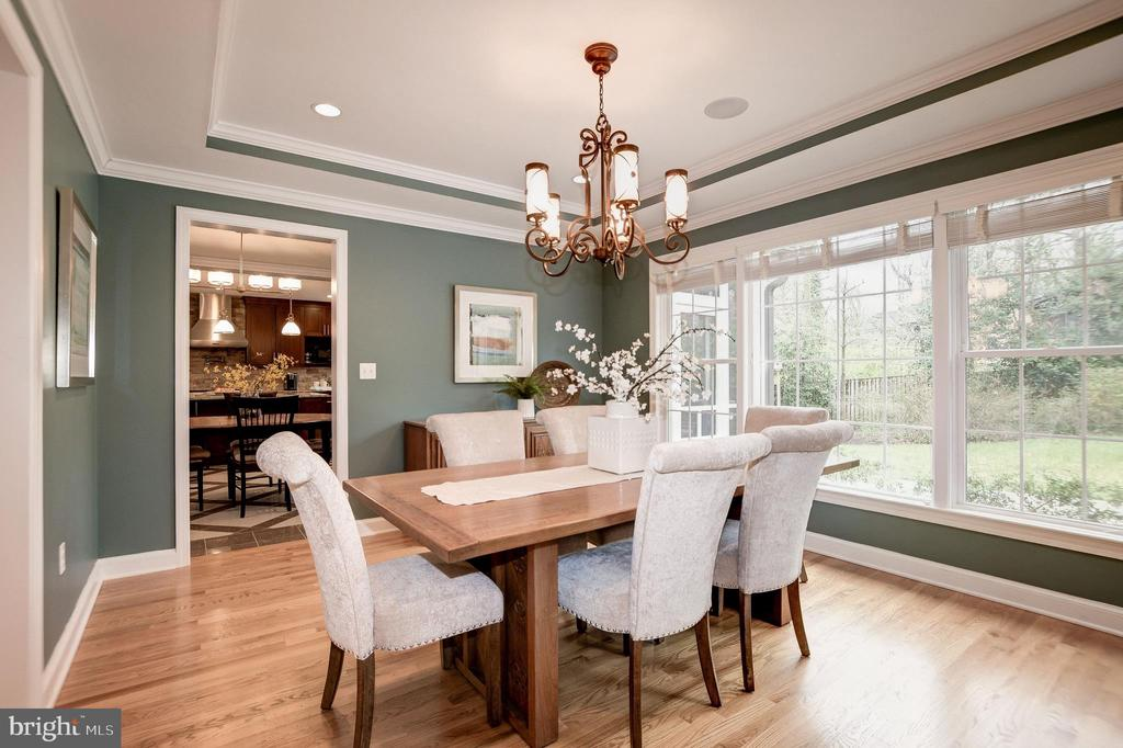 Dining room is so beautiful! - 6804 BROXBURN DR, BETHESDA