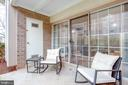 Sliders into your home from your  patio - 1948 KENNEDY DR #101, MCLEAN