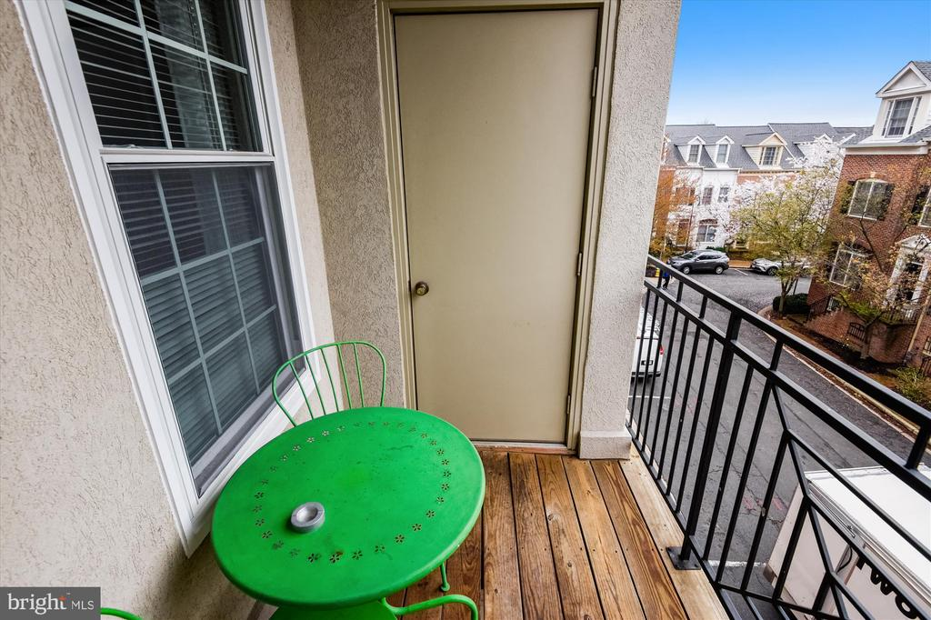 Balcony off living room - 1321 N ADAMS CT #308, ARLINGTON
