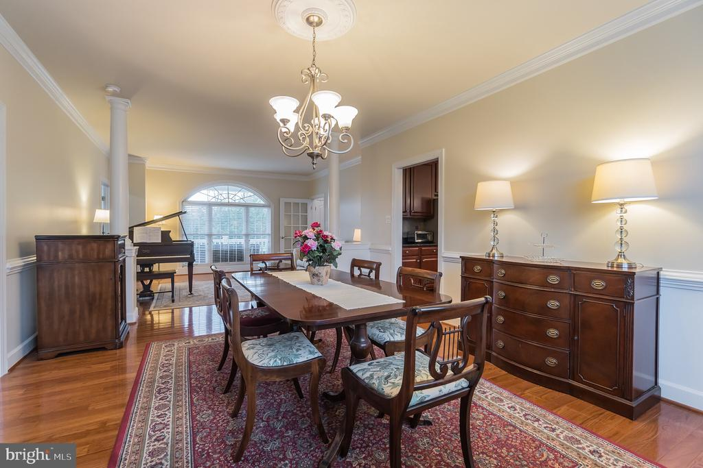 Elegant formal dining room - 29 HEMPSTEAD LN, STAFFORD