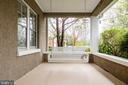 Glorious front porch with porch swing - 3715 BRADLEY LN, CHEVY CHASE