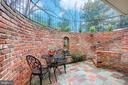 PRIVATE BRICK AAND SLATE PATIO WITH FOUNTAIN - 10311 DETRICK AVE, KENSINGTON