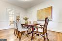 Spacious dining room - 3715 BRADLEY LN, CHEVY CHASE