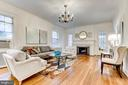 Gracious living room with wonderful details - 3715 BRADLEY LN, CHEVY CHASE