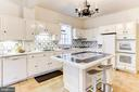 Enormous kitchen with island - 3715 BRADLEY LN, CHEVY CHASE