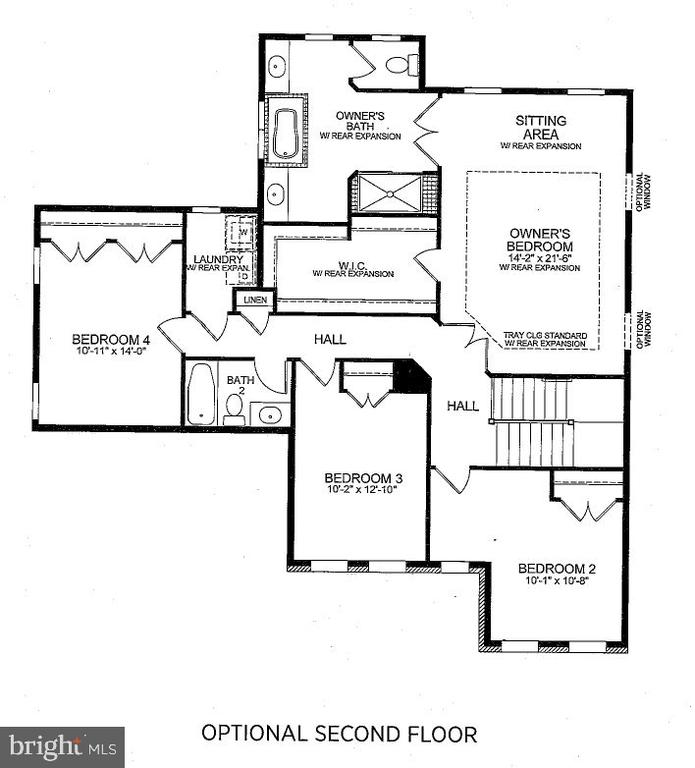 Bedroom Lvl Floorplan - 23578 PROSPERITY RIDGE PL, BRAMBLETON