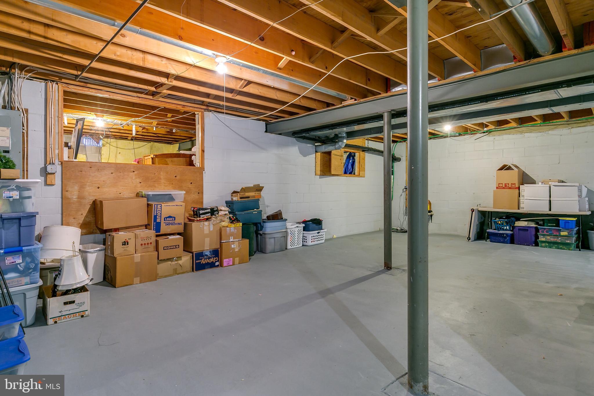 Crawlspace is storage