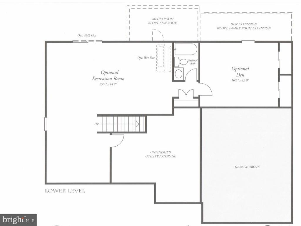 Lower Level Floorplan - 215 ALPINE DR SE, LEESBURG
