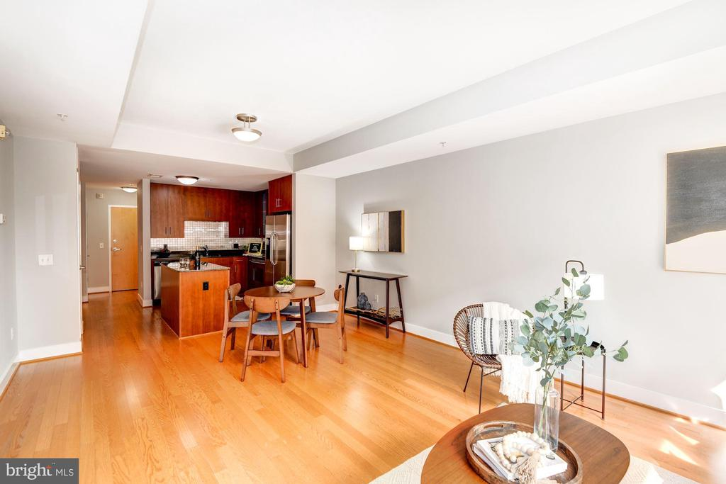 View of Kitchen & Dining from Living Room! - 910 M ST NW #525, WASHINGTON