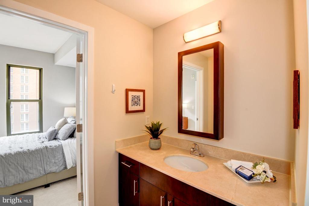 Master Bathroom - Tile Floor & Extra Wide Vanity! - 910 M ST NW #525, WASHINGTON