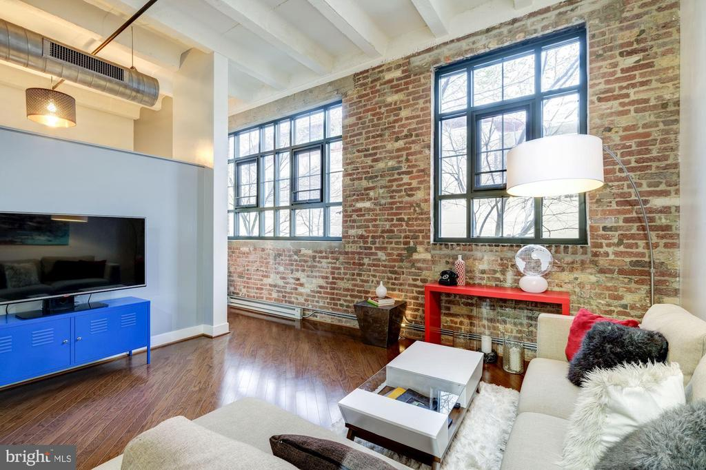 Cathedral ceilings give space huge volume - 1701 KALORAMA RD NW #206, WASHINGTON