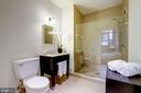 Large glass front shower - 1701 KALORAMA RD NW #206, WASHINGTON