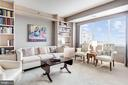 Den with built-ins and views - 5600 WISCONSIN AVE #1408, CHEVY CHASE