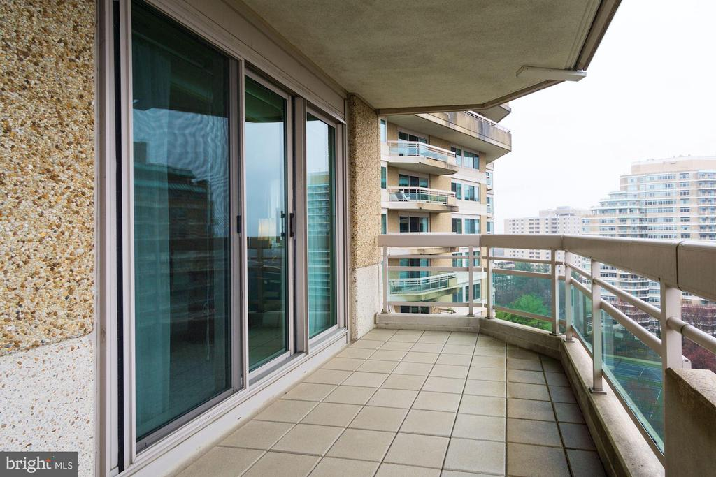 Balcony off of dining room - 5600 WISCONSIN AVE #1408, CHEVY CHASE