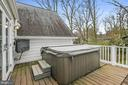 Hot tub and television off the upper level deck! - 6804 BROXBURN DR, BETHESDA