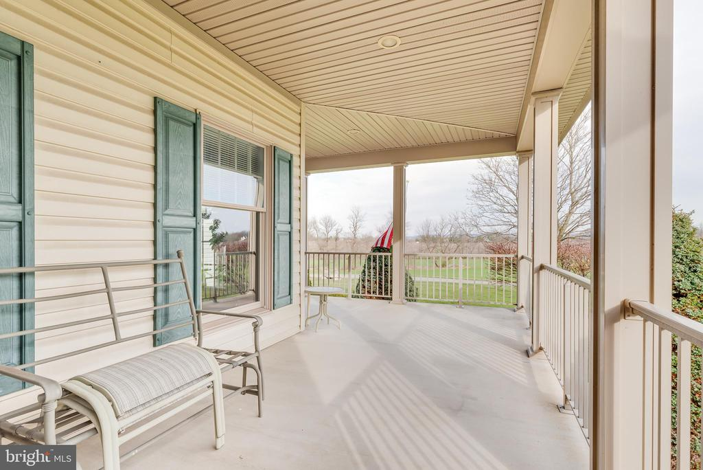 for seating to enjoy the views of the farm - 1007 PEMBROKE WAY, CHARLES TOWN
