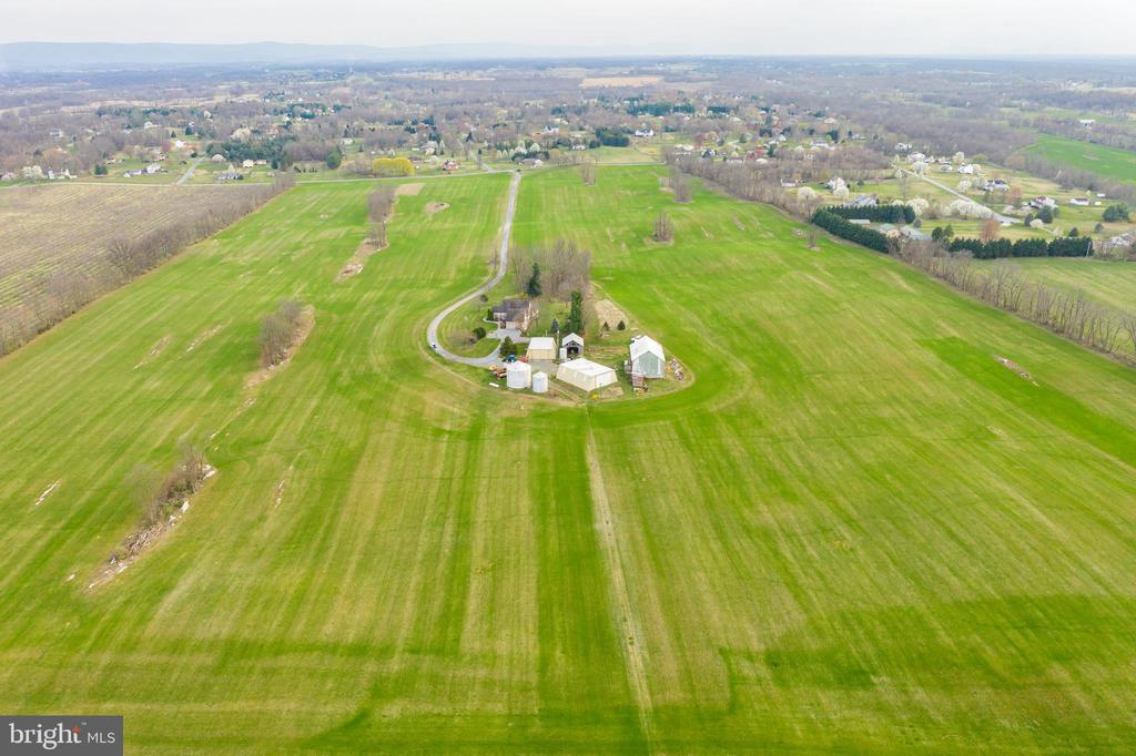 Aerial views showcase many of your 93+ acres - 1007 PEMBROKE WAY, CHARLES TOWN