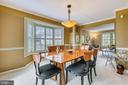 Formal Dining room w/ crown molding and chair rail - 738 SONATA WAY, SILVER SPRING