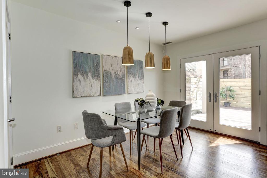 Dining Space combo with Kitchen - 420 RIDGE ST NW, WASHINGTON