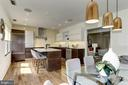 From Dining Space into Island Kitchen - 420 RIDGE ST NW, WASHINGTON