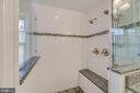 Master bath shower - 20464 SWAN CREEK CT, STERLING