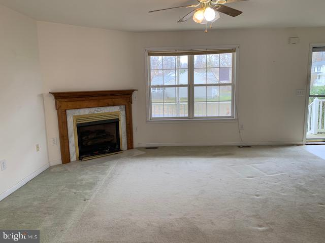 Living room fire place - 2614 RUFFIN DR, FREDERICKSBURG