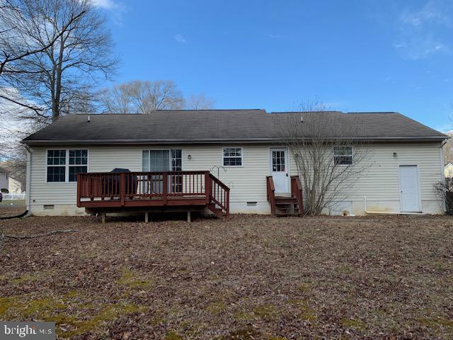 Rear view of house - 2614 RUFFIN DR, FREDERICKSBURG
