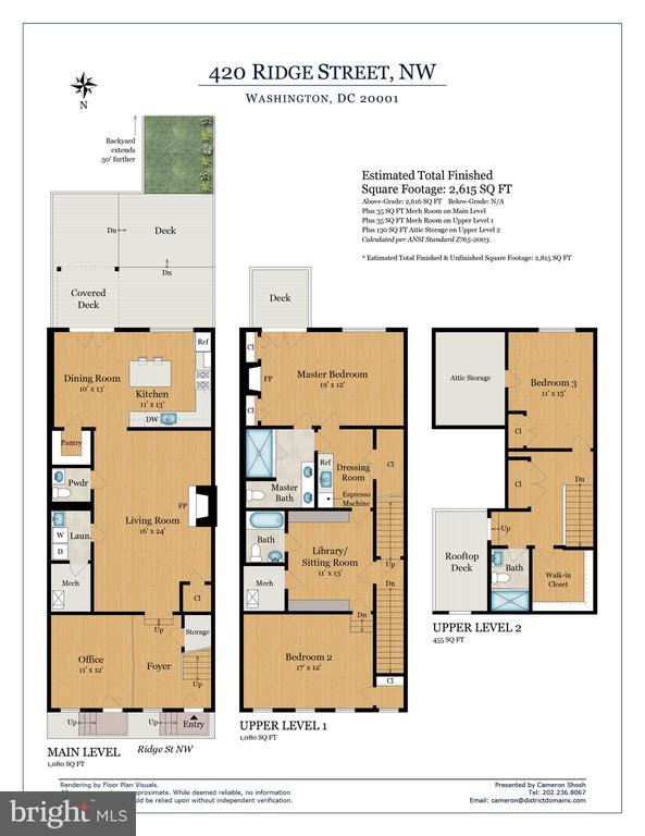 Floor Plan: 3bed/3.5bath, 2815 sqft on 3 floors. - 420 RIDGE ST NW, WASHINGTON