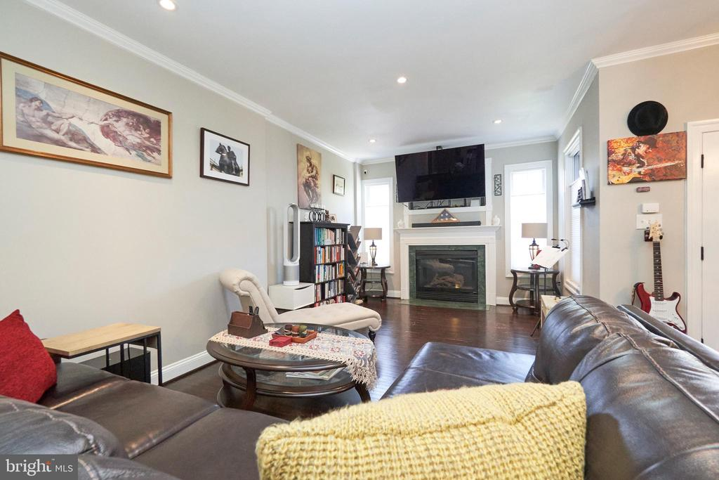 Family Room with hardwood flooring - 8932 ATATURK WAY, LORTON