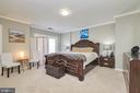 Master bedroom with doors to deck - 8932 ATATURK WAY, LORTON