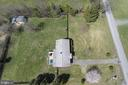 Side aerial view of home on 1 acre! - 11833 PURCELL RD, LOVETTSVILLE