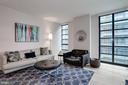 Wide LR w/floor-to-ceiling windows - 45 SUTTON SQ SW #704, WASHINGTON