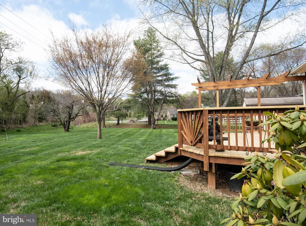 Backyard view - 7 PHILLIPS DR NW, LEESBURG