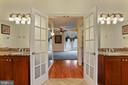 View into the master bedroom, closet to the right - 2375 BALLENGER CREEK PIKE, ADAMSTOWN