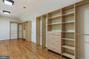 Storage solutions with drawers and hanging area - 2375 BALLENGER CREEK PIKE, ADAMSTOWN