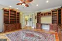 Custom built-in bookshelving and desk area - 2375 BALLENGER CREEK PIKE, ADAMSTOWN