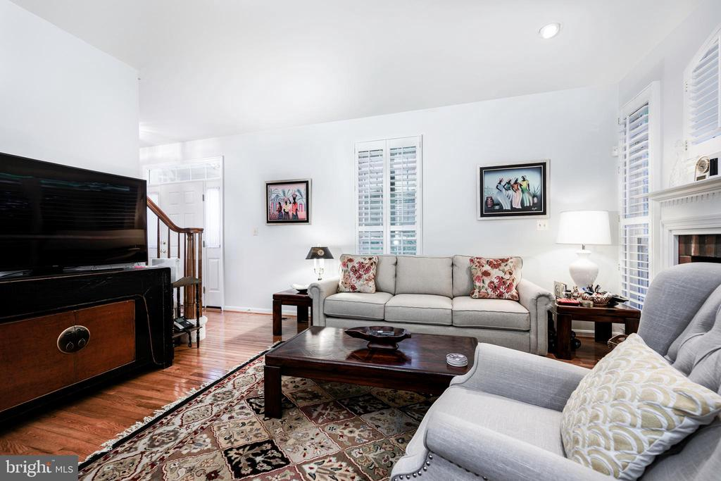 Charming family room, gas fireplace, two exposures - 34 WADDINGTON CT, ROCKVILLE