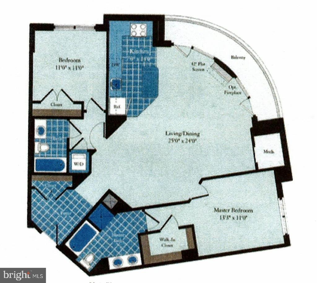 Approximate layout - 3650 S GLEBE RD #651, ARLINGTON