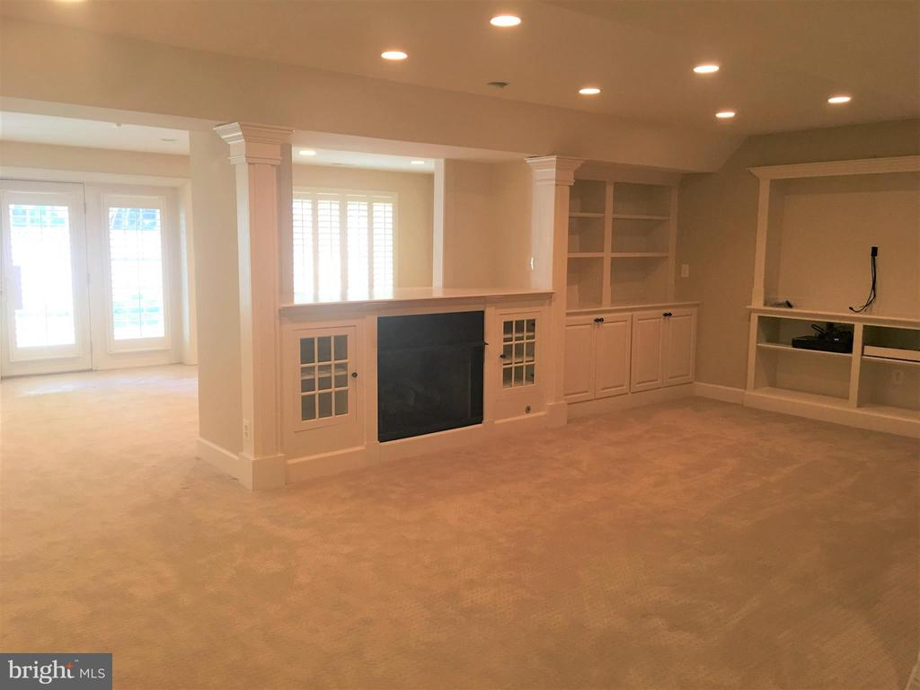 Walkout Lower Level with Built-ns - 18441 LANIER ISLAND SQ, LEESBURG
