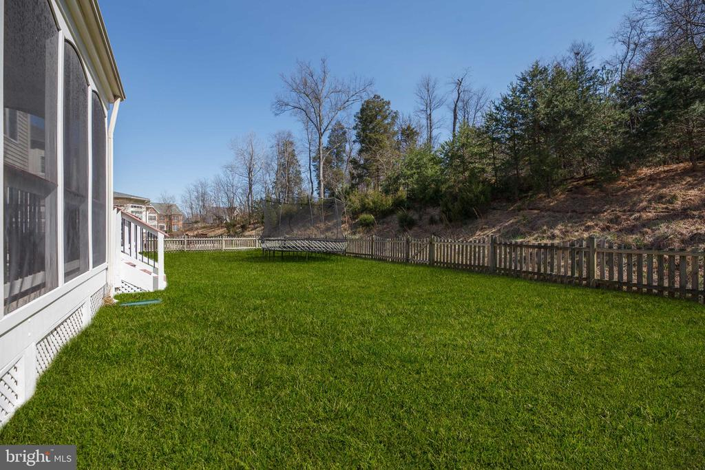 Flat rear yard backing to woods! - 18754 KIPHEART DR, LEESBURG