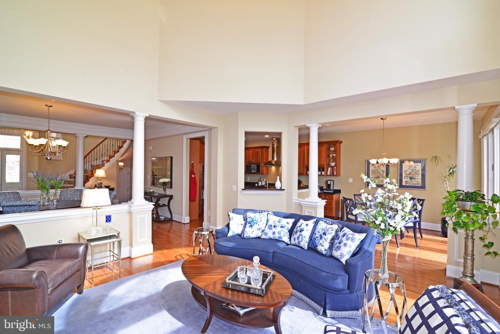 Living room with hardwood floors - 43663 PALMETTO DUNES TER, LEESBURG