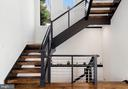 Handcrafted open staircase w/ metal rails - 31 N JACKSON ST, ARLINGTON